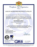 ISO 45001 2018 Certificate 150 x 190